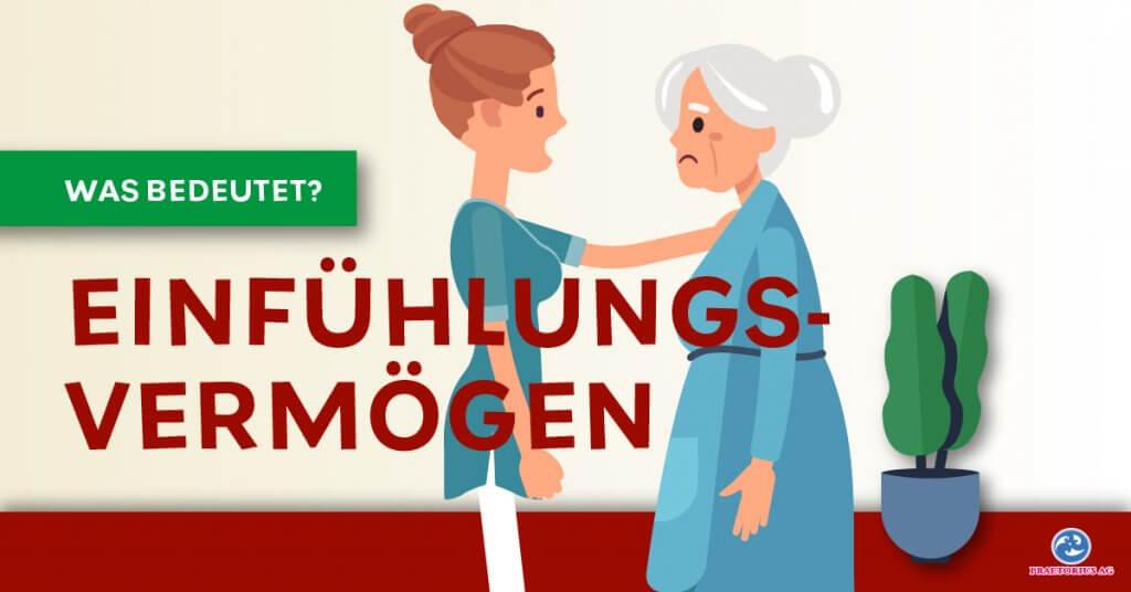 Pflegerin tröstet Altenheimbewohnerin